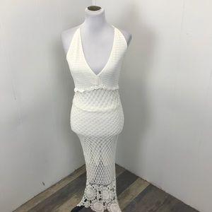 White House Black Market boho Crocheted maxi dress